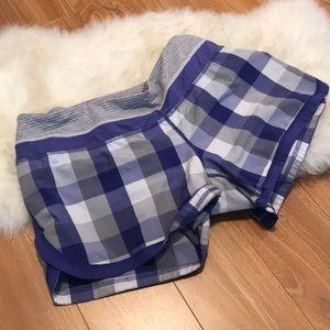 Lululemon purple sz 8 checkered shorts